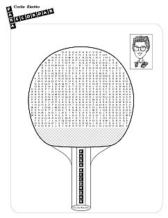 Tmt Tenis De Mesa Para Todos Torneos De Ping Pong Sopa De Letras